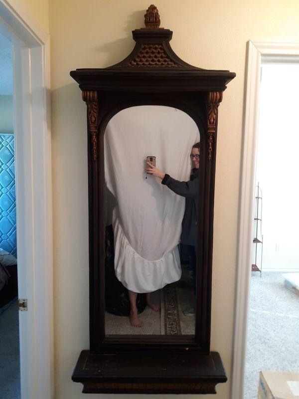 Decorative hallway mirror