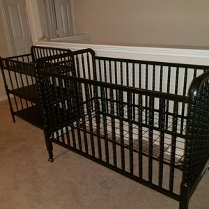 black crib with changing table for Sale in Spring, TX