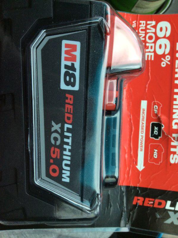 Milwaukee m18 red lithium