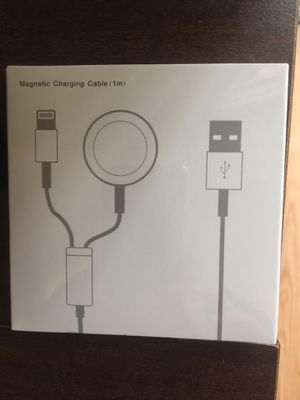 2 in 1 For Apple Watch Charger & iPhone Cable iWatch Magnetic Charging Cable US for Sale in Tucson, AZ