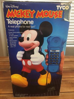 Vintage New Disney Mickey Mouse Tyco Telephone Original Boxing *PRICE IS FIRM* for Sale in Sun City, AZ