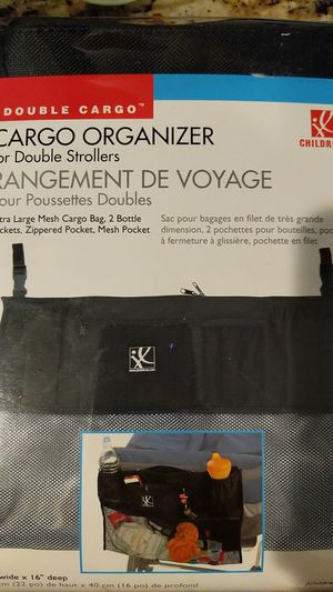 JJ Childress Cargo Organizer for Double Stroller for Sale in Chula Vista, CA