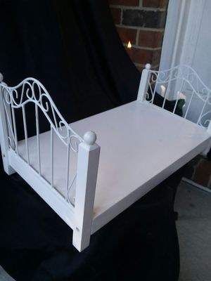 Dressing table and full size bed with black and white striped mattress for Sale in Apex, NC