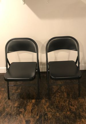 2 metal folding chairs for Sale in Portland, OR
