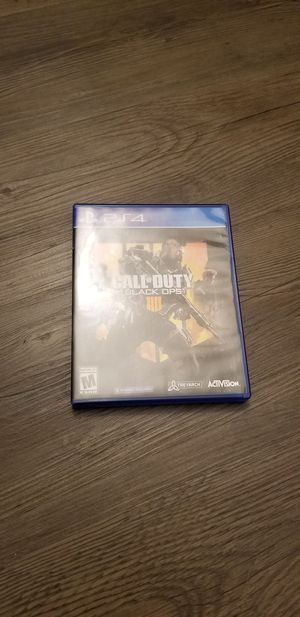 Call of duty Black Ops 4 PS4 for Sale in San Marcos, CA