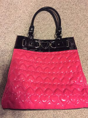 Large Betsey Johnson Patent leather tote bag for Sale in Glendale, AZ