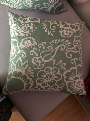 Pair of Throw Pillows, feather-filled for Sale in Pinole, CA