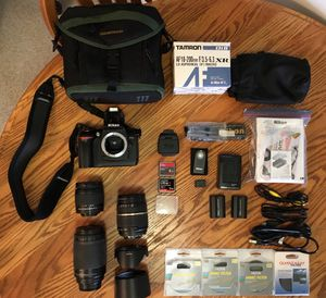 Nikon dSLR Camera w/ 3 Lenses for Sale in Marina del Rey, CA