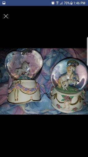 Vintage unicorn snow globes for Sale in Newton, IA