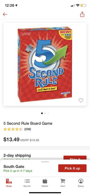 5 Second Rule Board Game (NEW) for Sale in Huntington Park, CA