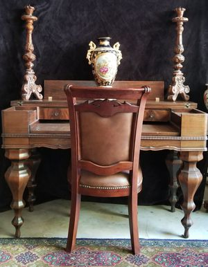 Antique Spinnet Desk and Chair for Sale in Lakewood, CO
