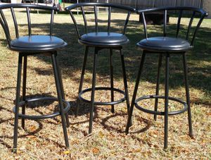 3 Black Bar Stools for Sale in Cedar Park, TX