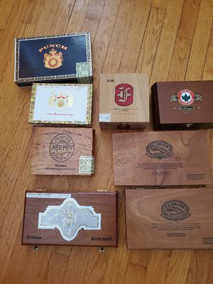 Cigar boxes including the Play boy one for Sale in St. Louis, MO