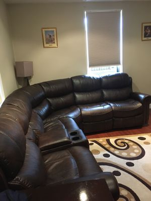 6 piece Faux Leather Reclining Sofa for Sale in Brooklyn, NY