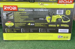 Ryobi CORDLESS Chain saw 14 in for Sale in Patterson, CA
