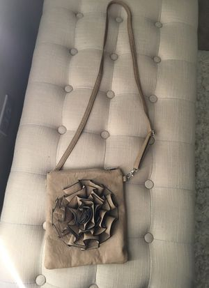 Small nude messenger bag with flower for Sale in Port St. Lucie, FL