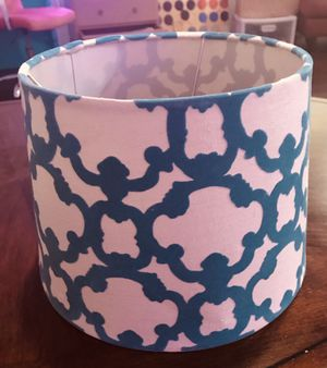 Modern, Simple, Chic White and Blue Lamp Shade for Sale in Austin, TX
