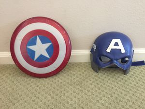 Captain America Shield and Mask for Sale in Upland, CA