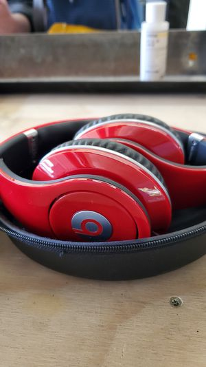 Beats By Dr. DRE Studio Monster Red (Wired) w/ Case. Near New! for Sale in Fremont, CA