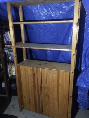 Wood shelf cabinet for Sale in Palo Alto, CA