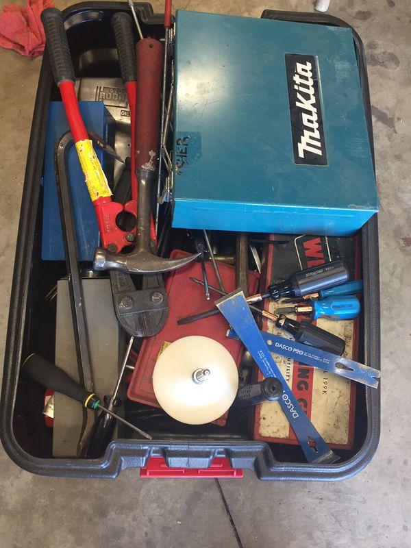 Tub of tools