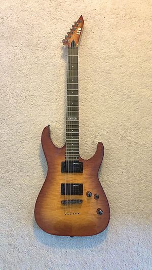 ESP LTD MH-100QMNT Electric Guitar with Gig Bag and Stand (Like-New Condition) for Sale in Morrisville, NC