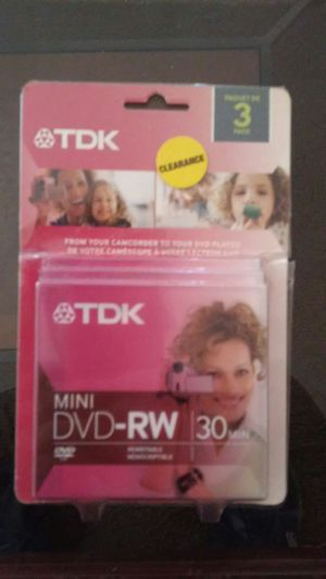Tdk mini dvd-rw 30 mins in box for Sale in El Cajon, CA