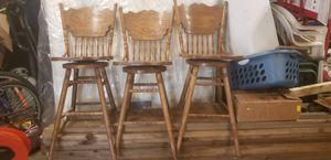 Solid oak bar stools (3) for Sale in Noblesville, IN