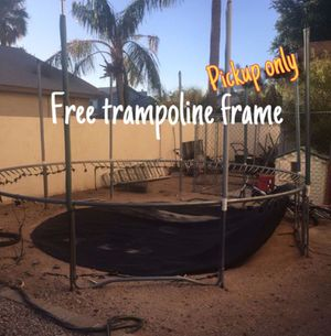 Free Trampoline FRAME ~ no net or mat for Sale in Chandler, AZ
