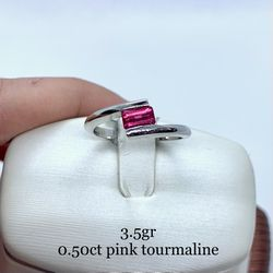 14k White Gold Pink Tourmaline Ring for Sale in Tustin,  CA