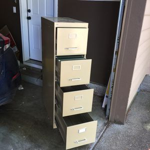 FREE!!Metal Filing cabinet 4-deawer Cole brand for Sale in Portland, OR