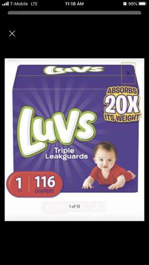 Luvs diaper size one for Sale in Orange, CA