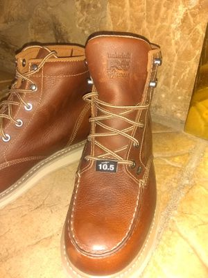 (NEW) Timberland leather work Boots (men's 10.5) for Sale in Corona, CA