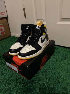NIKE AIR JORDAN 1 RETRO NOT FOR RESALE YELLOW SIZE 8 for Sale in Fort Washington, MD