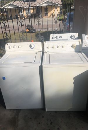 Washer and dryer work great 125 a piece for a washer for Sale in Tampa, FL