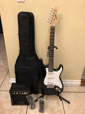 Fever electric guitar with case amp cable and strap for Sale in Cudahy, CA