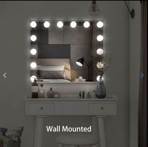 Hollywood Lighted Makeup Mirror Dimmer Vanity Mirror Tabletop/ Wall Beauty Salon for Sale in Henderson, NV