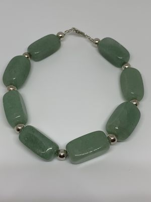 Silver bracelet with jade for Sale in Whittier, CA