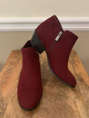 Xappeal Red Suede Ankle Boots/Booties Size 6 for Sale in Marietta, GA