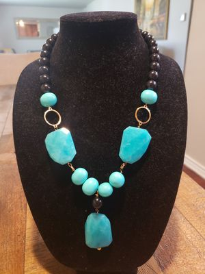 Onix and turquoise neckless. for Sale in Dallas, TX