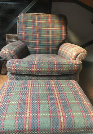 Burris lounge chair and ottoman for Sale in Denver, CO