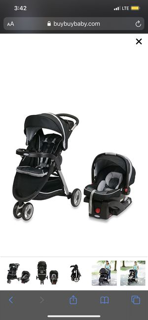Graco® FastAction™ Fold Sport Click Connect™ Travel System in Gotham™ for Sale in Stockton, CA