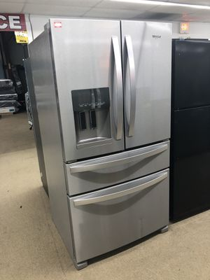 Whirlpool Stainless steel 4 Door French Refrigerator on sale for Sale in Norcross, GA