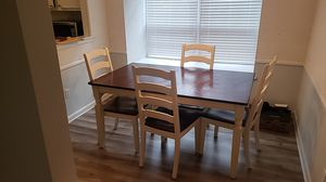 Wood Dining Table/4 Chair Set for Sale in Atlanta, GA