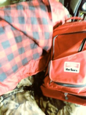 Marlboro Backpack and Sleeping bag for Sale in Spokane, WA