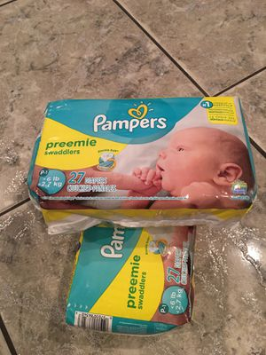Pampers preemie diapers for Sale in Fresno, CA