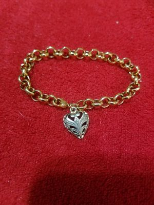 Two Toned Heart Charm Gold Plated Bracelet New for Sale in Glendale, AZ