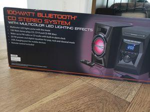Black web 100 watt bluetooth CD stereo system for Sale in Los Angeles, CA