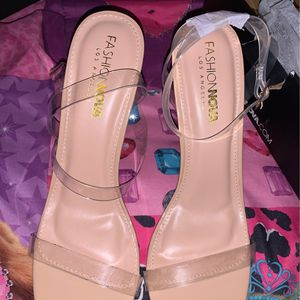 Clear heels Size 11 Fashion nova for Sale in Chester, PA