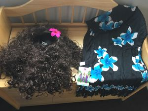 Moana wig and sarong for kids for Sale in Chula Vista, CA